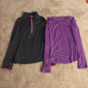 Girls Long Sleeved Athletic Tops Size 7-8